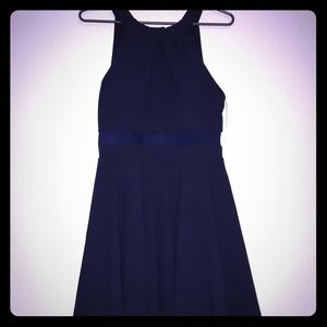 Honey and Rosie navy blue formal mini dress